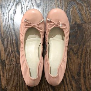 Ivanka Trump pale pink ballet flats